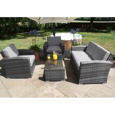 Garden Furniture Gomshall 9 seater rattan garden furniture.. grey decking.. garden makeover