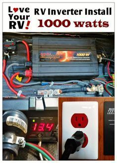 Simple way to install a 1000 watt inverter into your RV. RV inverter installation explained - Love Your RV! blog - http://www.loveyourrv.com/1000w-pure-sine-wave-inverter/ #RVing #RVmod