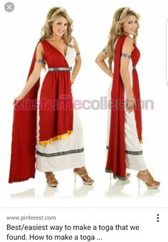 Roman toga for my hen!  sc 1 st  Pinterest & Best/easiest way to make a toga that we found. How to make a toga ...