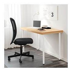IKEA - TORNLIDEN / ADILS, Table, pine/white, , Pre-drilled leg holes for easy assembly.Adjustable feet allow you to level the table on uneven floors.