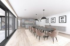 Private House Interior Design made by: Zambaut-Design Home Interior Design, Exterior Design, Interior And Exterior, Conference Room, Villa, Dining Table, Architecture, Furniture, Home Decor