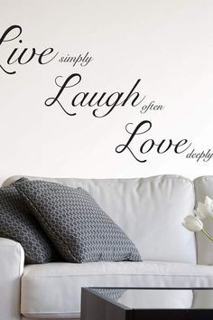 Brewster Home Fashions Live Laugh Love Wall Quote Mottos To Live By, Cartoon Wall, Love Wall, Graphic Quotes, Quotes By Famous People, Live Laugh Love, Wall Art Quotes, Sticker Shop, Wall Stickers