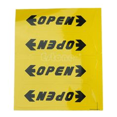 Convenient 4pcs Car Door OPEN Warning Safety Driving Decals Reflective Stickers Exterior Accessories Car Stickers