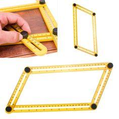 Multi-Angle Template Tool - Angle Measuring Tool Ruler-Useful Tools Angles, Angle Measuring Tool, Measuring Instrument, Any Job, Brick Pavers, Big Star, Multifunctional, Ruler, Woodworking Tools