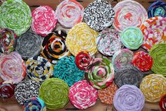 fabric flowers for ANYTHING!