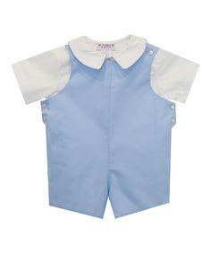 Light Blue Top & Shortalls - Infant
