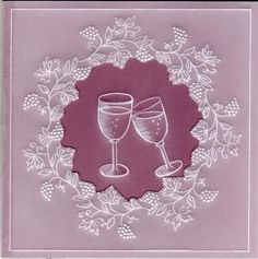 Celebrate on Craftsuprint created by Susan McGuirk - This parchment card is made in two layers creating an aperture for the glasses.