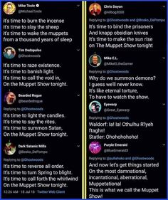 Someone rewrote the Muppet Show Theme...