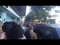 Lana Parrilla chegando no Hotel Fasano