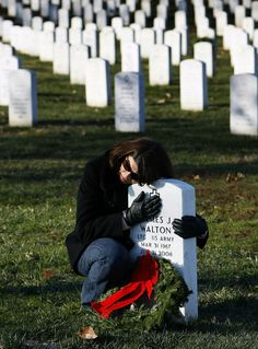 """CHRISTMAS AT ARLINGTON NATIONAL CEMETERY. """"Greater Love hath no man than this, that he may lay down his life for his friends."""" (John 15-13)"""