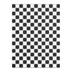 #Black and White #Octagon Fleece #Blanket - keep warm with this blanket