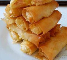 Φλογέρες στο φούρνο Cookbook Recipes, Snack Recipes, Dessert Recipes, Cooking Recipes, Snacks, Cyprus Food, Pizza Tarts, Greek Sweets, Appetizer Dips