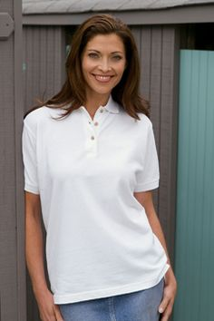Style 2801 Women's Enterprise Pique Polo 100% combed cotton, 7 oz. pique body, solid trim, classic fit body, narrow three-button reverse p....  #customapparel #uniforms  #companyclothing  #embroidered  #printed  #logo