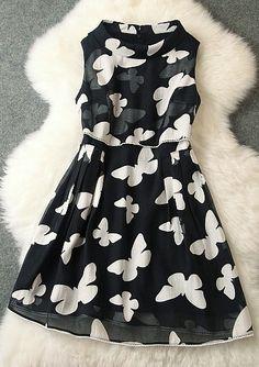 Butterfly Print dress