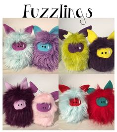 Cover Page - Fuzzlings are hand sewn monsters waiting to be adopted.