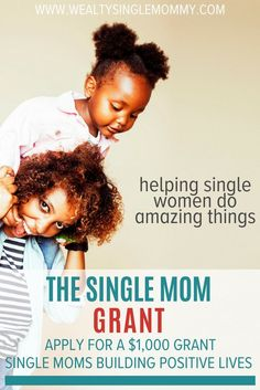 The single mom grant provides $1,000 to a single mom committed to building a positive life for herself, her family and contributing to the world in a productive way. It's my passion to help single moms build positive lives because single moms are women doing amazing things! Find out how to apply for this monthly grant. via @johnsonemma