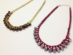 Lila & Sirena: DIY | Chain and Thread Necklace  http://lilasirena.blogspot.mx/2014/09/diy-chain-and-thread-necklace.html