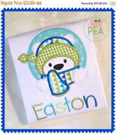Personalized Polar Bear Shirt  Boys by SweetPeaStitches84 on Etsy