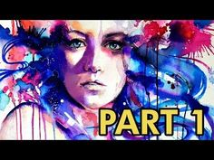 Watercolour Speed Painting - Abstract portrait with Watercolour Pencil by zAcheR-fineT - YouTube
