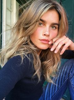 Pinterest: DEBORAHPRAHA ♥️ beachy waves hair style