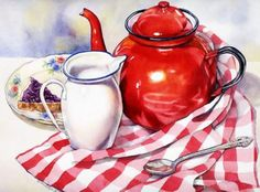Red Teapot & Toast (88 pieces)