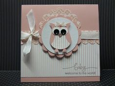 Owl punch baby girl card