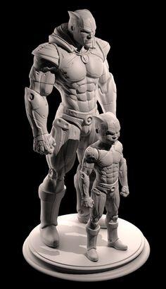 Superheroes, Oscar Perez Ayala on ArtStation at http://www.artstation.com/artwork/superheroes