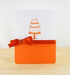 Kelley Eubanks celebrates in tangerine. This super simple card makes a bold statement and is perfect for any occasion.