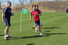 Arne Friedrich's first practice with the Fire