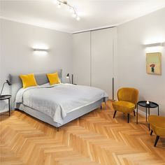 #gry # beddrom # bed # yellow #minimalistic #interiordesign  ------------ Yellow Bedding, Layout, Minimalist, Interior Design, Projects, Furniture, Home Decor, Yellow Bedding Sets, Custom Cars