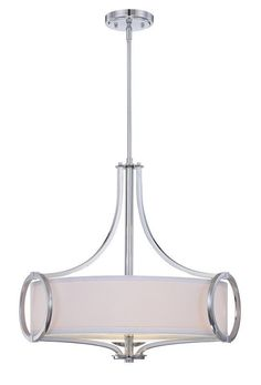 Designers Fountain 84031 3 Light Inverted Pendant from the Mirage Collection Polished Chrome Indoor Lighting Pendants