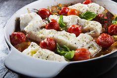 Torskefilet med poteter og grønnsaker i form