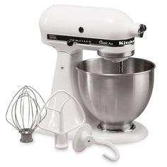 Amazon.com: KitchenAid KSM75WH 4.5-Qt. Classic Plus Stand Mixer - White: Electric Stand Mixers: Home & Kitchen