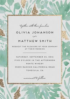 Gorgeous invitation suite