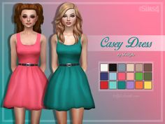 Sims 4 CC's - The Best: Casey Dress by Trillyke