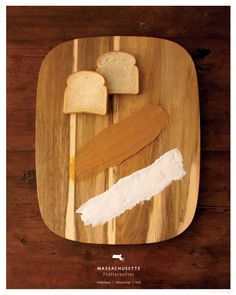 sandwiches by state, by kelly pratt / via anthology mag.