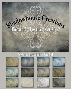 Shadowhouse Creations: Texture Set from http://shadowhousecreations.blogspot.com.  One of the most talented and generous texture creators on the web.