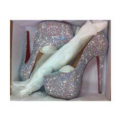 Christian Louboutin Sexy Heels cut for a princess. High Heels Black, High Heels Boots, Shoe Boots, Shoes Heels, Disco Shoes, Stiletto Heels, Shoes Sneakers, Sparkly Heels, Prom Heels