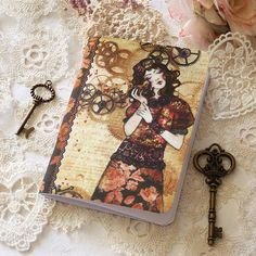 Illustrated notebook  The Mechanic of My Heart by MinaSmoke