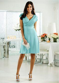 One Shoulder, Shoulder Dress, Ideias Fashion, Formal Dresses, Style, Block Dress, Low Cut Dresses, Dark Blue, Women's Work Fashion