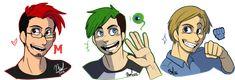 Markiplier - Jacksepticeye - PewDiePie by MohdRiddle on DeviantArt
