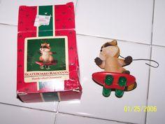 1985 Hallmark Ornament Skateboarder Raccoon by KatydidsThisNThat, $3.00