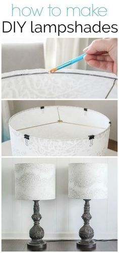 How to make a lampshade - making custom diy lampshades is a quick and easy project. #diyhomedecor #lampshade #lamps