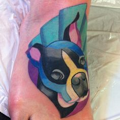 """#tattoo #tattoos #petportrait  #dogtattoo #bostonterrier"" Photo taken by @spacecat045 on Instagram, pinned via the InstaPin iOS App! http://www.instapinapp.com (03/20/2015)"