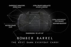 #Pricetalk #프라이스톡 드럼통형 Bomber 빽  생존 팔찌 미니 Bomder 여행 kit Bomber 빽   미국 샌프란시스코 3가지 합쳐 69$ 네요