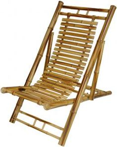 Japanese Bamboo Folding Chair  My mom had 2 of these in her top floor apt deck at the beach. So cool. S~