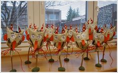 Janin blog: Stromečky School Clubs, Advent, Crafts For Kids, Paper Crafts, Christmas Ornaments, Holiday Decor, Winter, Blog, Monsters