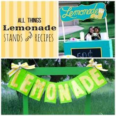 All Things Lemonade - Lemonade stands and recipes