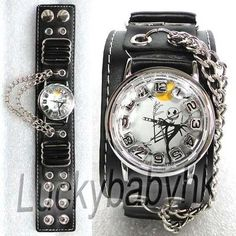 I found 'Tim Burton's Nightmare before Christmas Jack Face Black Wrist Watch Punk' on Wish, check it out!