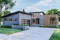 Contemporary House Plans, Modern House Plans, Modern Contemporary, Open Space Living, Living Area, Living Spaces, Rv Living, Modern Ranch, Modern Bungalow
